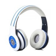 aople 2.4G Wireless Bluetooth V3.0 EDR Headset white/blue